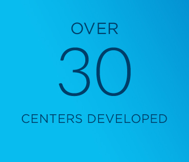 Over 30 centers delivered